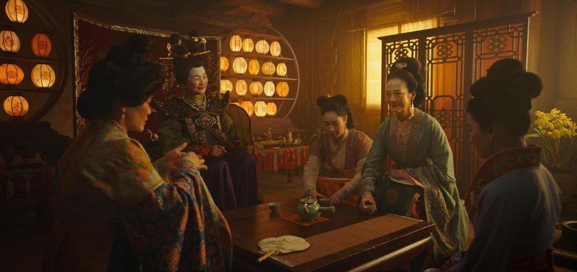Rosalind Chao, Pei-Pei Cheng, Yifei Liu, Jo Lo, and Xana Tang in Mulan (2020)