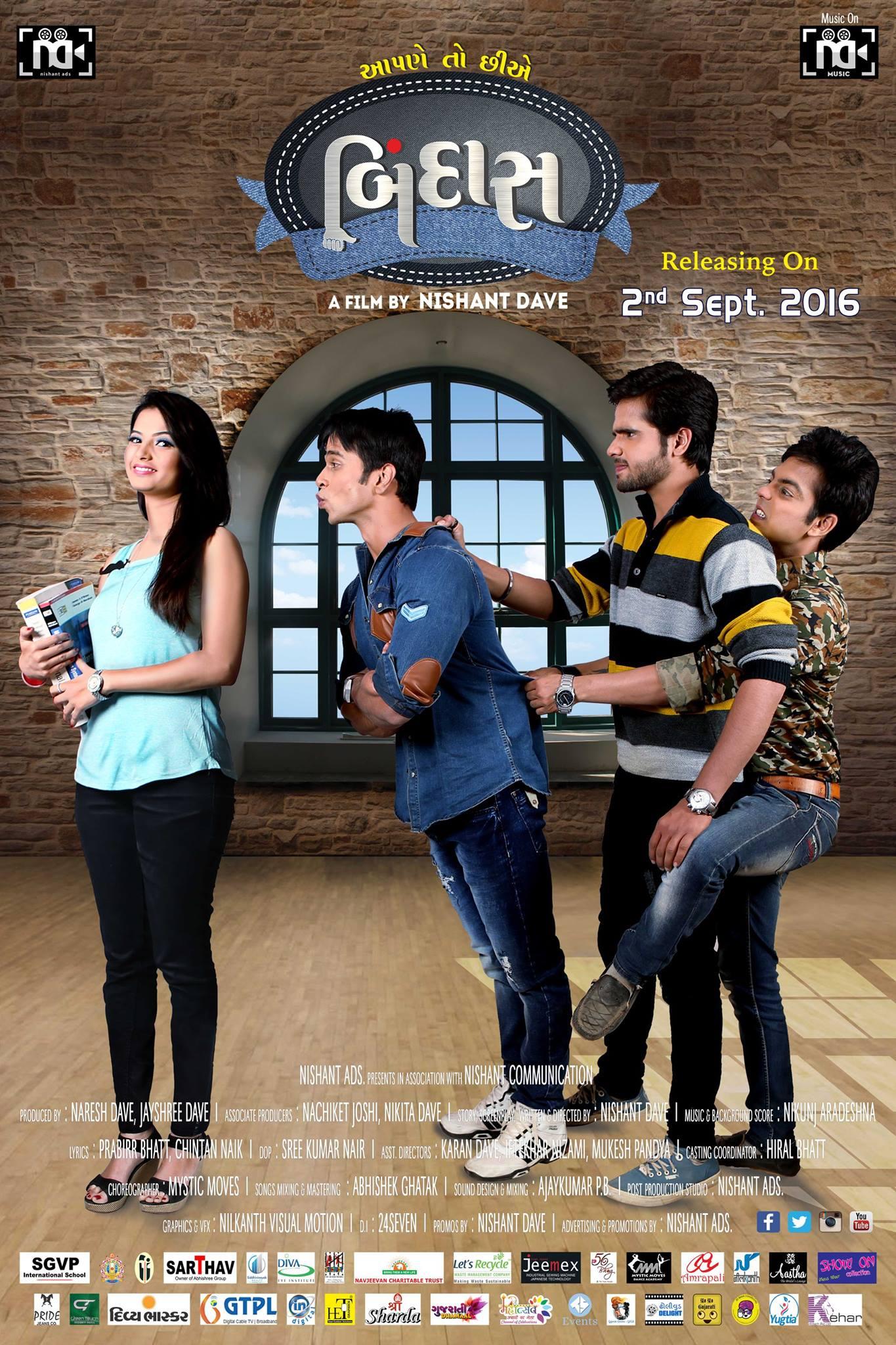 Download Aapne Toh Chhie Bindaas 2016 Gujarati 720p HDRip ESubs 1.2GB