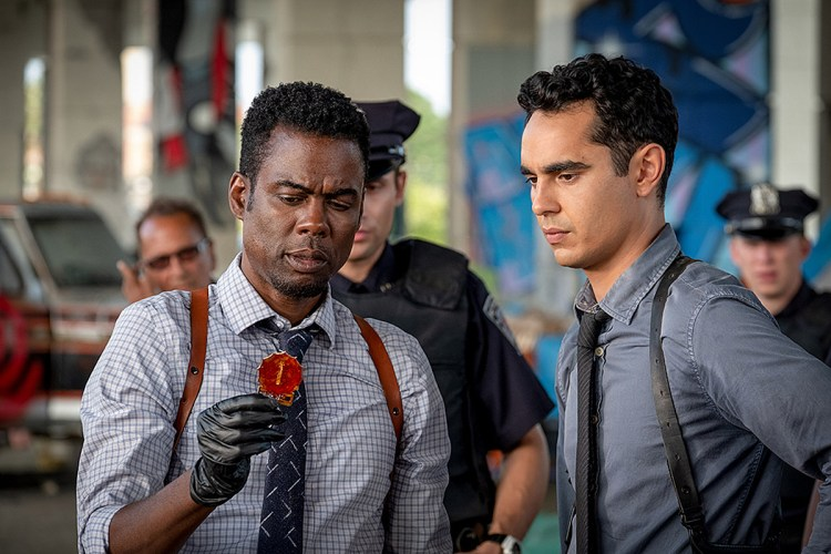 Chris Rock and Max Minghella in Spiral: From the Book of Saw (2020)