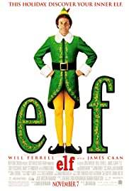 Movie poster for holiday movie Elf stars Will Ferrell, James Caan, Bob Newhart Free HDX rental from Vudu