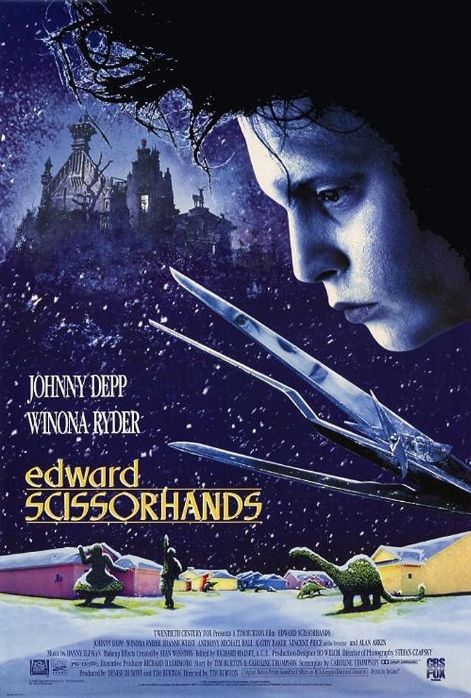 Johnny Depp in Edward Scissorhands (1990) - Christmas Movies