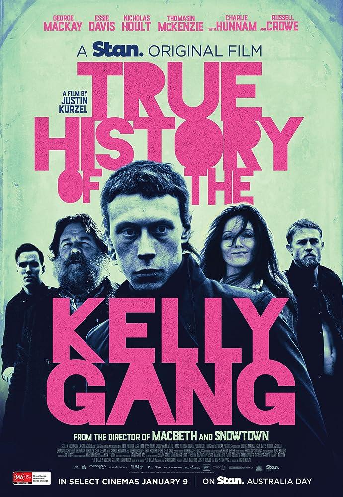Russell Crowe, Essie Davis, Nicholas Hoult, Charlie Hunnam, and George MacKay in True History of the Kelly Gang (2019)