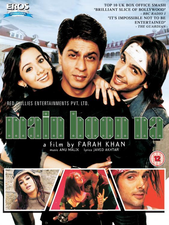 Main Hoon Na (2004) Hindi  480p | 720p HDRip 450MB | 1.3GB Full Movie