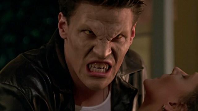 David Boreanaz and Kristine Sutherland in Buffy the Vampire Slayer (1997)