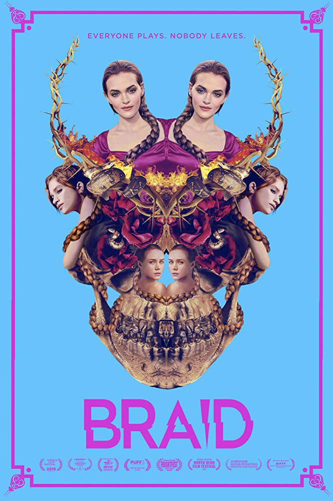 Sarah Hay, Madeline Brewer, and Imogen Waterhouse in Braid (2018)