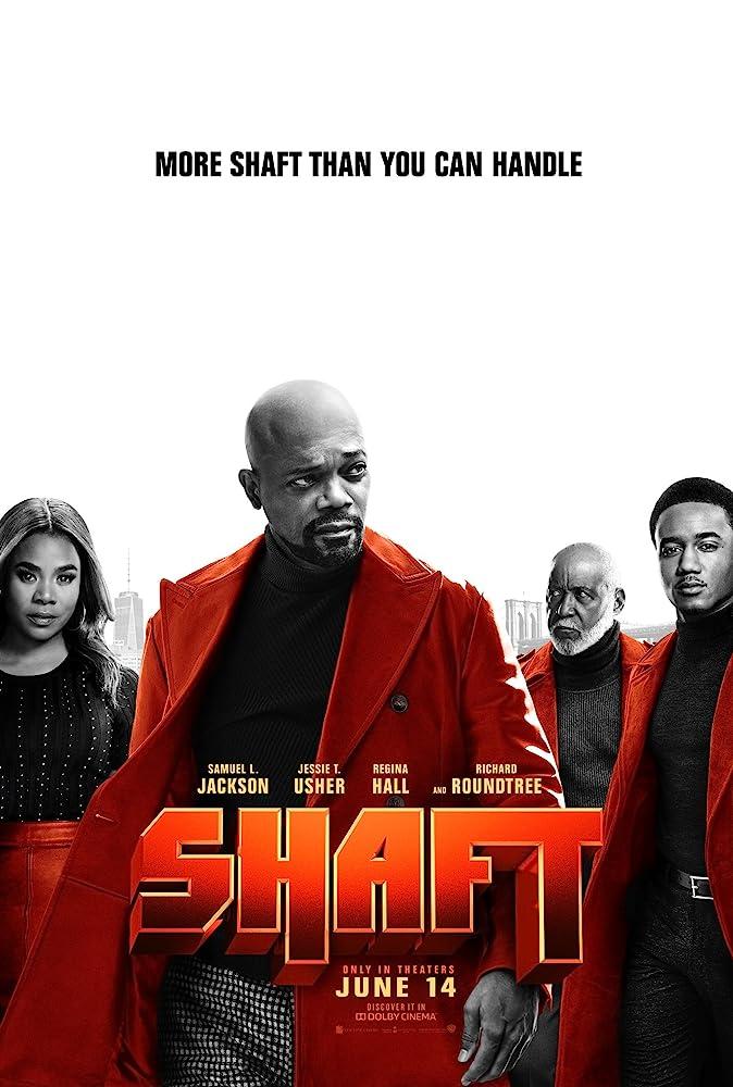 Samuel L. Jackson, Regina Hall, Richard Roundtree, and Jessie T. Usher in Shaft (2019)