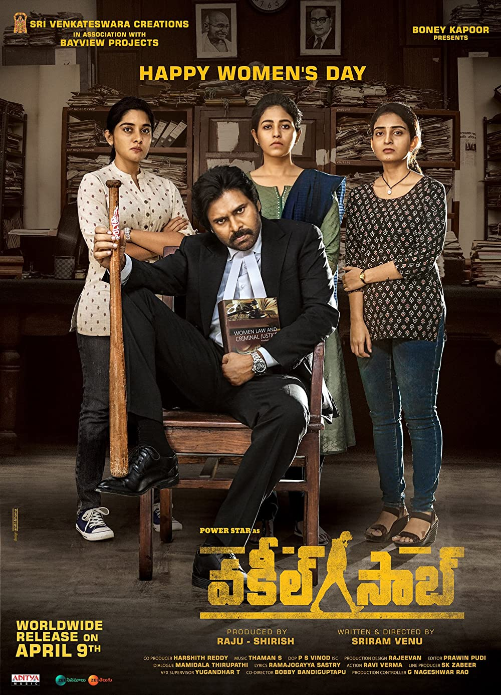 Vakeel Saab 2021 Telugu 720p HDRip 1.3GB | 415MB Download