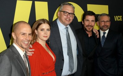Christian Bale, Sam Rockwell, Amy Adams, Steve Carell, and Adam McKay at an event for Vice (2018)