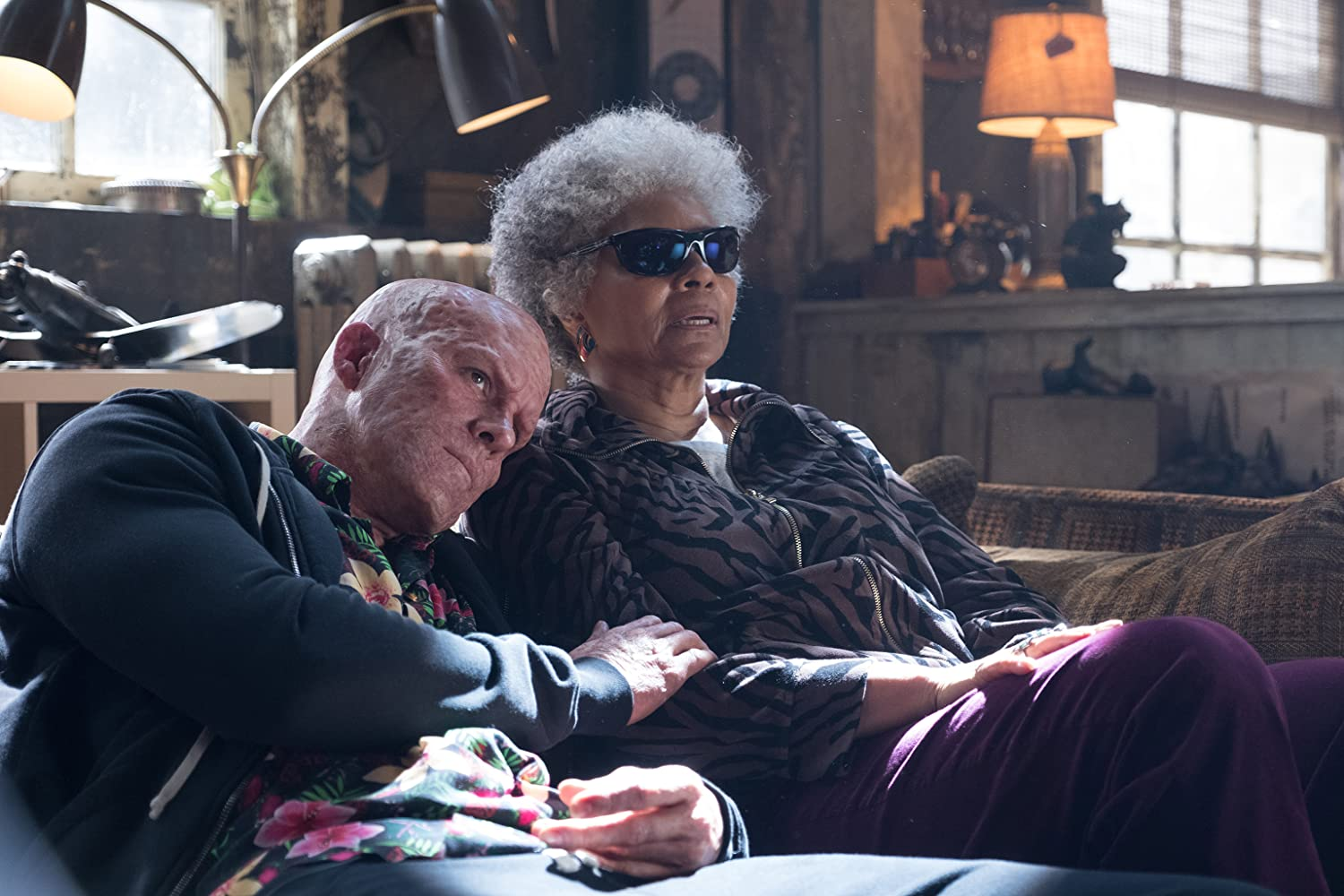 Ryan Reynolds and Leslie Uggams in Deadpool 2. Photo by Photo Credit: Joe Lederer - © TM & © 2018 Twentieth Century Fox Film Corporation. All Rights Reserved. Not for sale or duplication.