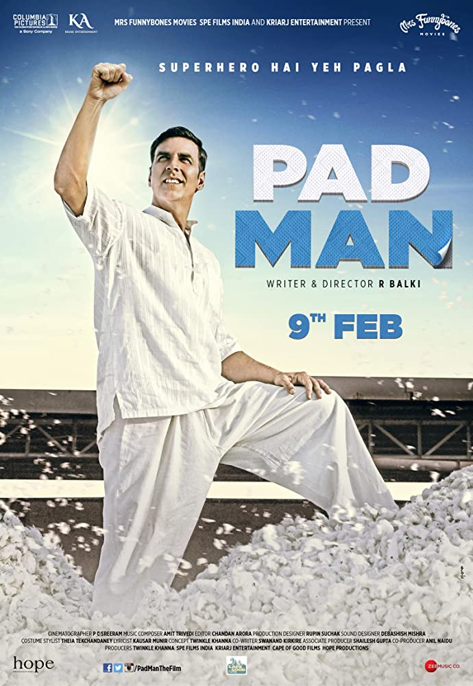 Padman 2018 Hindi Movie BluRay 300mb 480p 1.2GB 720p 4GB 11GB 14GB 1080p