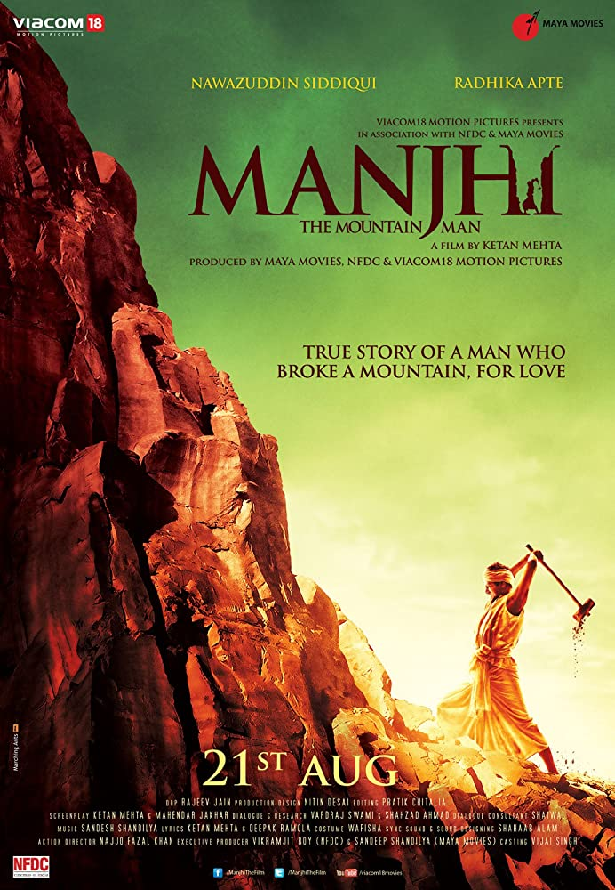 Manjhi: The Mountain Man 2015 Hindi Movie WebRip 300mb 480p 1GB 720p 3GB 6GB 1080p