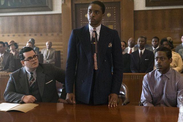 Sterling K. Brown, Josh Gad, and Chadwick Boseman in Marshall (2017)