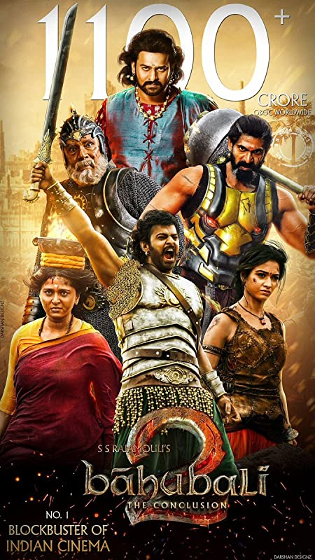 Baahubali 2: The Conclusion (2017) Hindi Blu-Ray - 480P | 720P - x264 - 500MB | 1.4GB - Download & Watch Online  Movie Poster - mlsbd