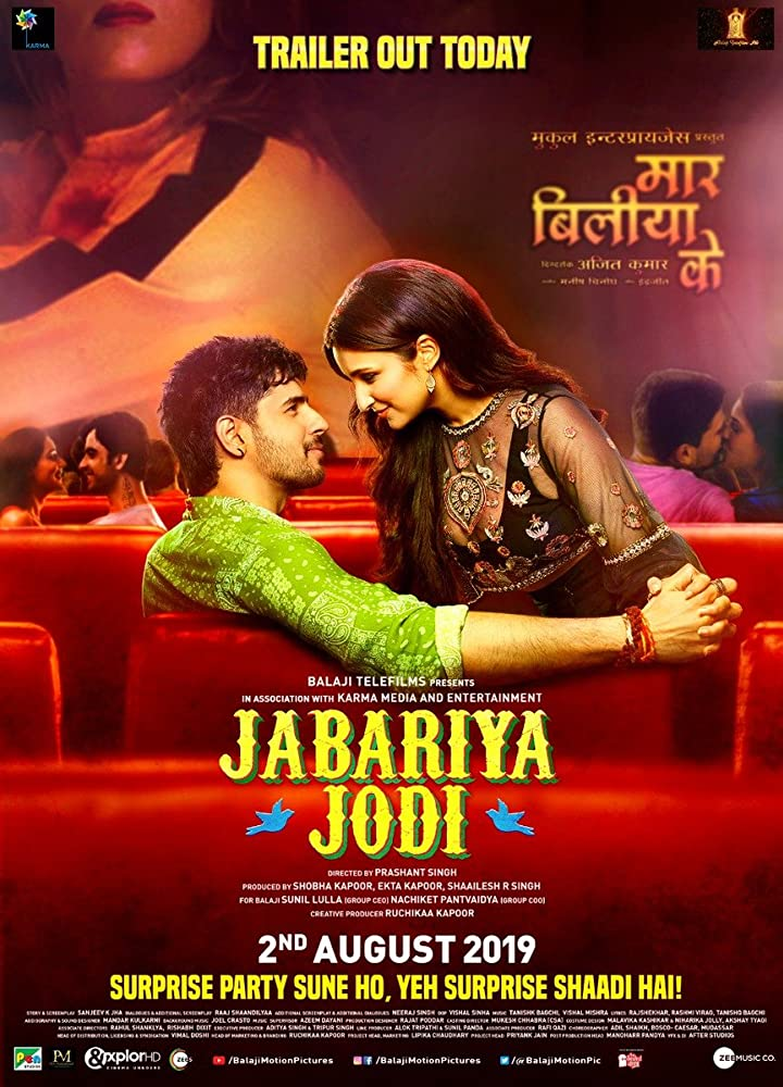 Upcoming Bollywood Movie Jabariya Jodi (2019) Star Cast, Release Date, Trailer, Songs, Story