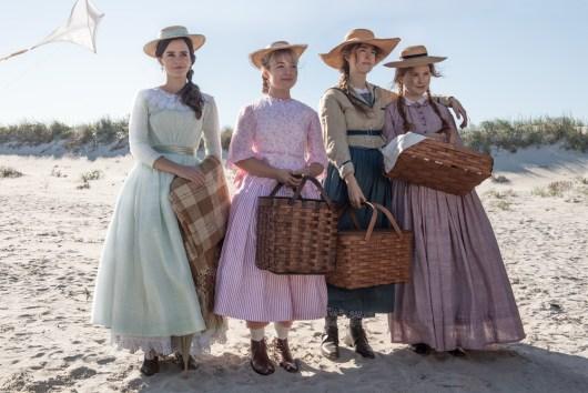 Emma Watson, Saoirse Ronan, Florence Pugh, and Eliza Scanlen in Little Women (2019)