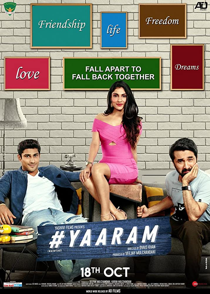 Prateik, Siddhanth Kapoor, and Ishita Raj in #Yaaram (2019)
