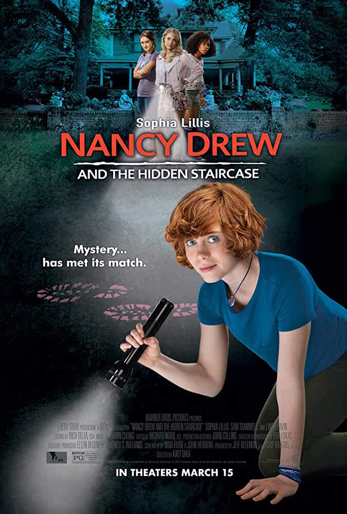 Andrea Anders, Sophia Lillis, Zoe Renee, and Mackenzie Graham in Nancy Drew and the Hidden Staircase (2019)
