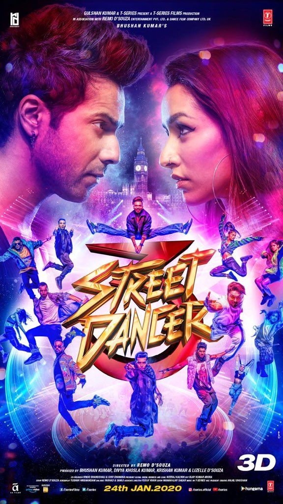 Street Dancer 3D (2020) Hindi Amazon WEB-DL - 480P | 720P | 1080P - x264 - 400MB | 1GB | 9.6GB - Download & Watch Online Movie Poster - mlsbd
