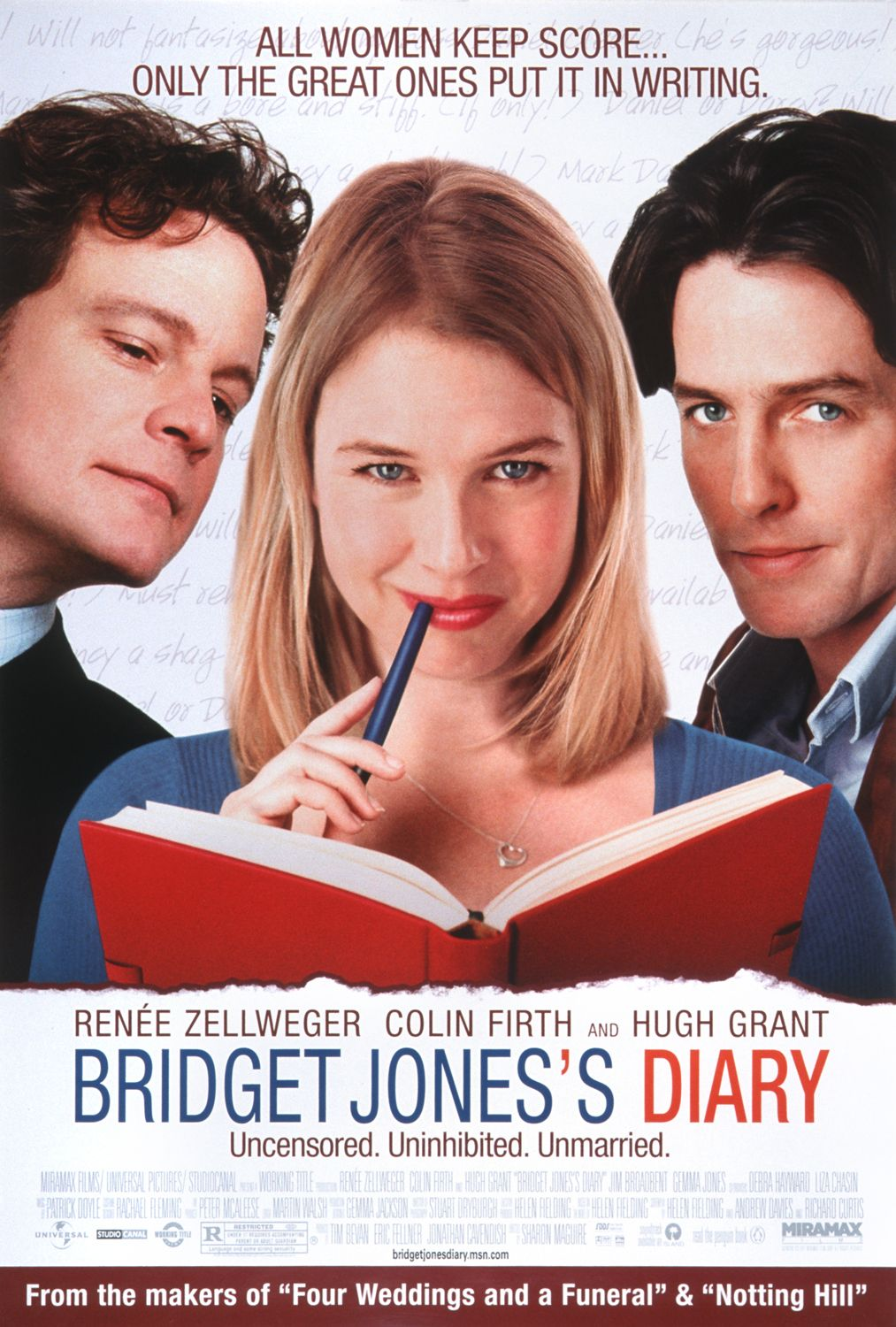 Bridget Jones's Diary (2001) Dual Audio 480p | 720p BluRay [Hindi (ORG) + English] x264 AAC 300MB | 1028MB Download