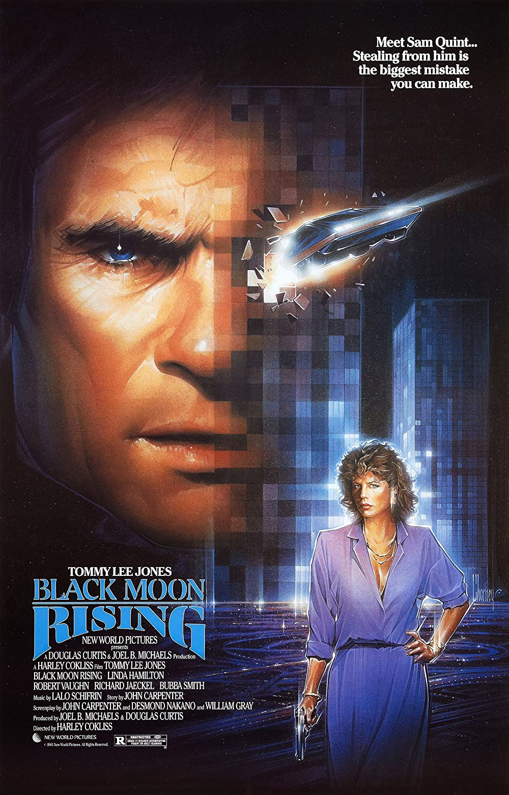 18+ Black Moon Rising 1986 English 480p | 720p BluRay 305MB | 750MB Download