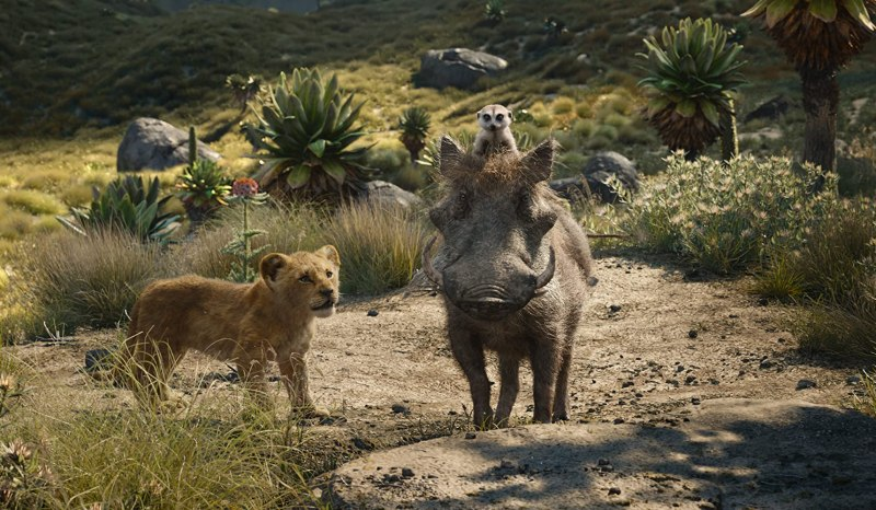Seth Rogen, Billy Eichner, and JD McCrary in The Lion King (2019)