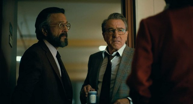 Robert De Niro, Joaquin Phoenix, and Marc Maron in Joker (2019)