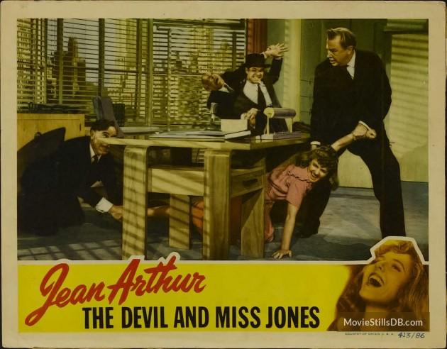 Jean Arthur Charles Coburn And Robert Cummings In The Devil And Miss Jones