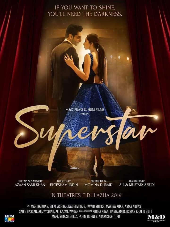 Mahira Khan and Bilal Ashraf in Superstar (2019)
