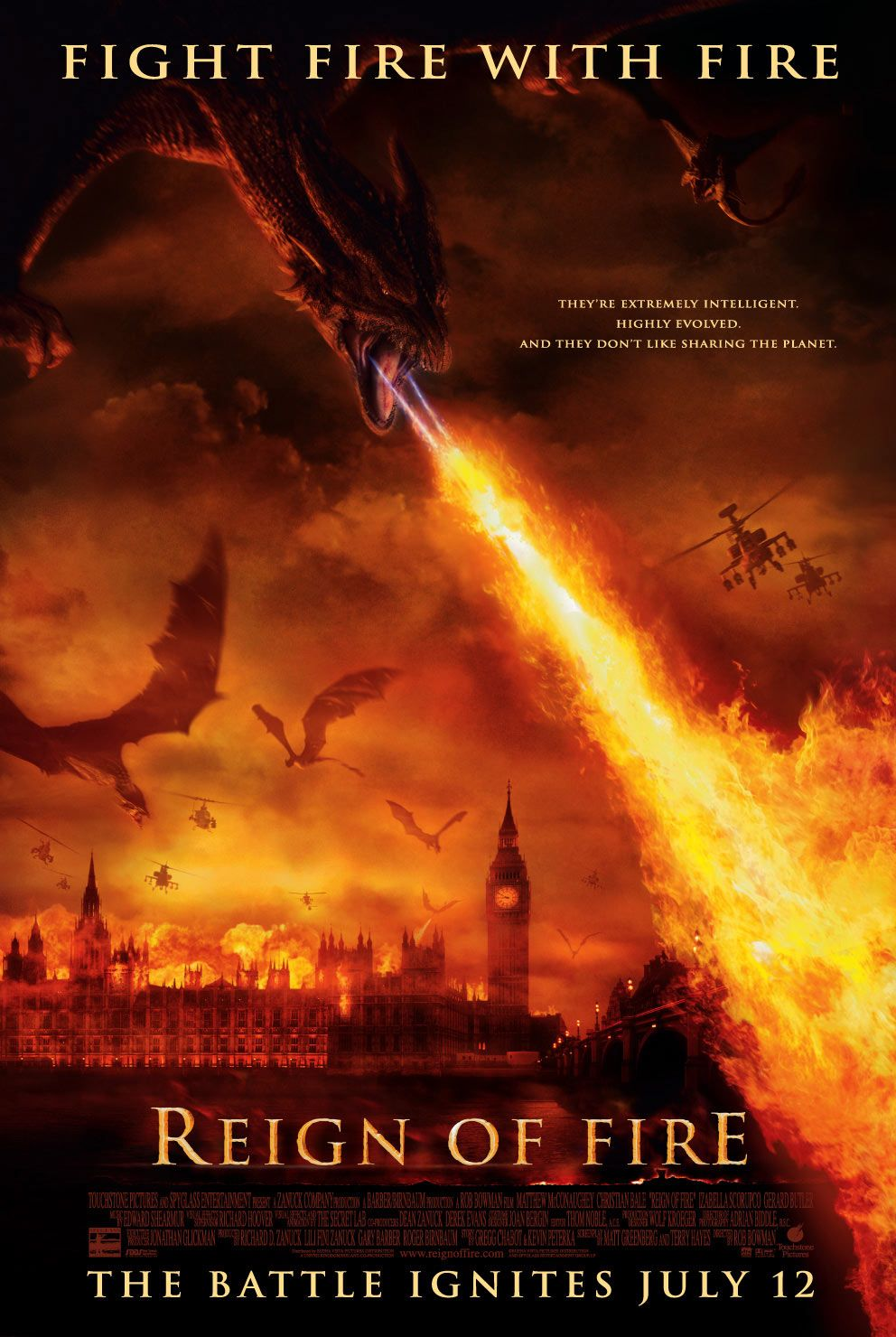 Image result for reign fire poster