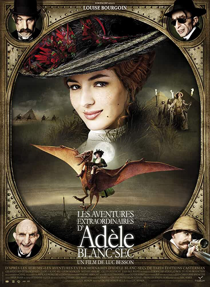 Download The Extraordinary Adventures of Adele Blanc-Sec  (2020) Dual Audio Full Movie {Hindi-Eng} 480p [350MB] | 720p [900MB]
