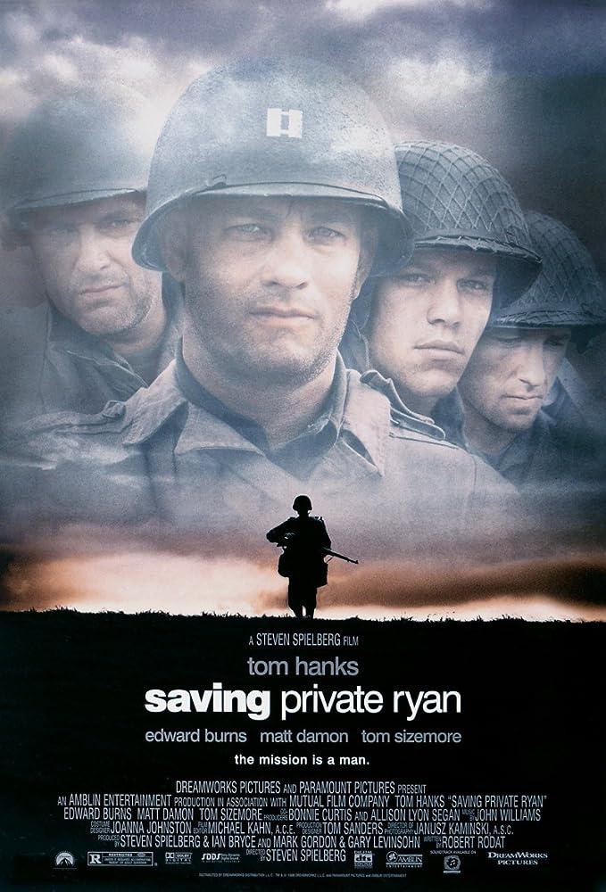 Tom Hanks, Matt Damon, and Edward Burns in Saving Private Ryan (1998)