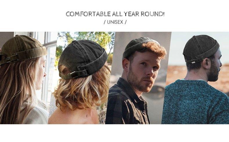 unisex round top cap