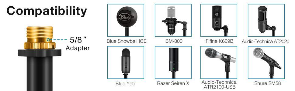 desktop mic stand