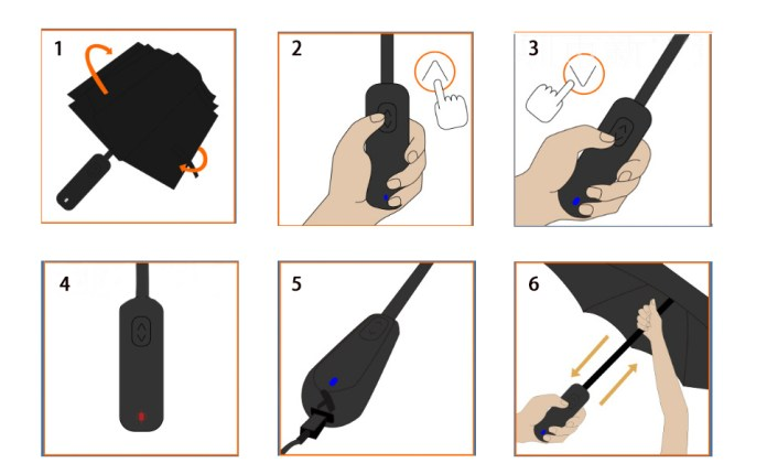 How to use electric umbrella