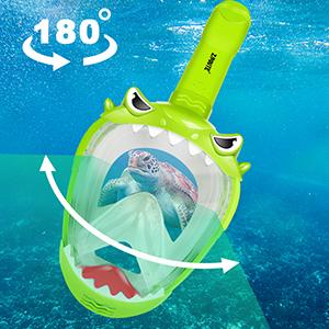 Kids Full Face Snorkel Mask