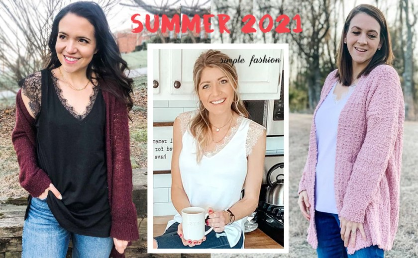 Lace tank tops for women