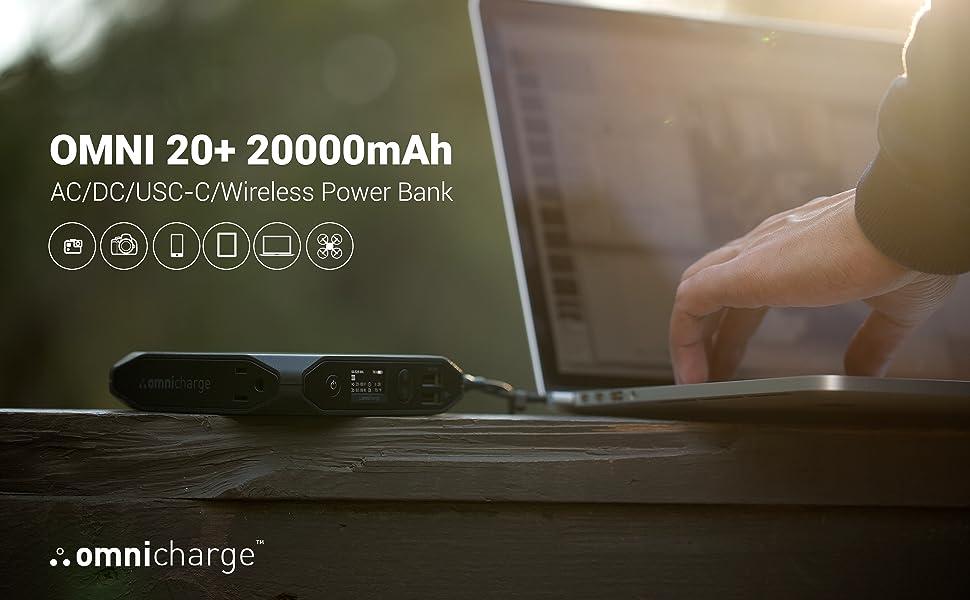 Omni 20+ 200000mAh AC/DC/USB-C/Wireless Power Bank