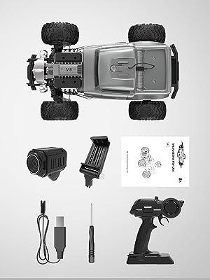 DE53 Remote Control Car with 720P HD FPV Camera