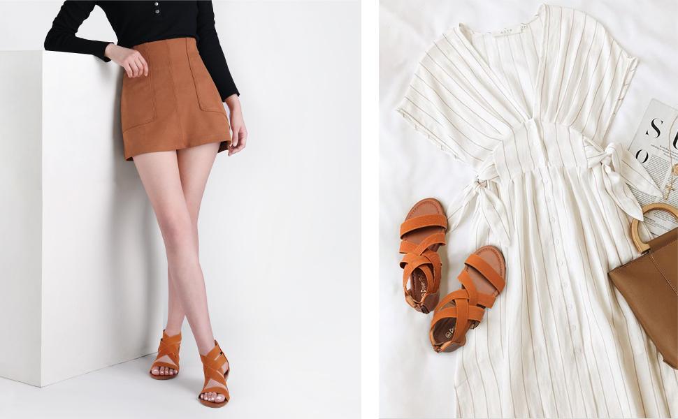 DREAM PAIRS Cute Flats Sandals