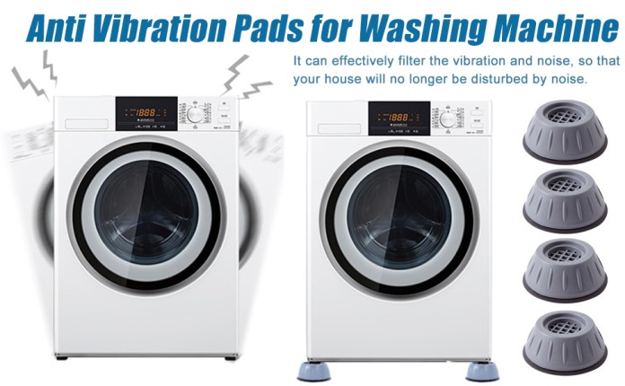 Multi functional washing machine foot pad Anti Vibration Pads with Suction Cup