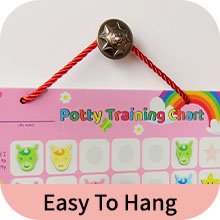 Easy to hang - Putska's chart is hung on a handle with a drawstring that easily attaches to it.
