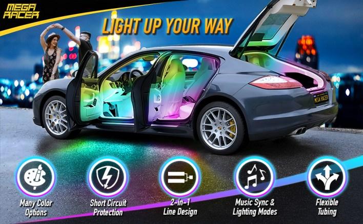 Mega Racer Interior Car Light Features
