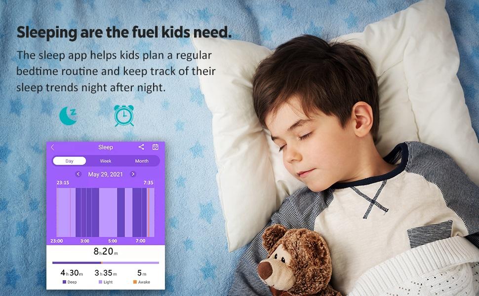Sleeping are the fuel kids need.