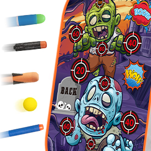 Zombie Shooting Target Game Toy for 3 4 5 6 7 8 9 10 Year Old Boys Girls Kids Gifts