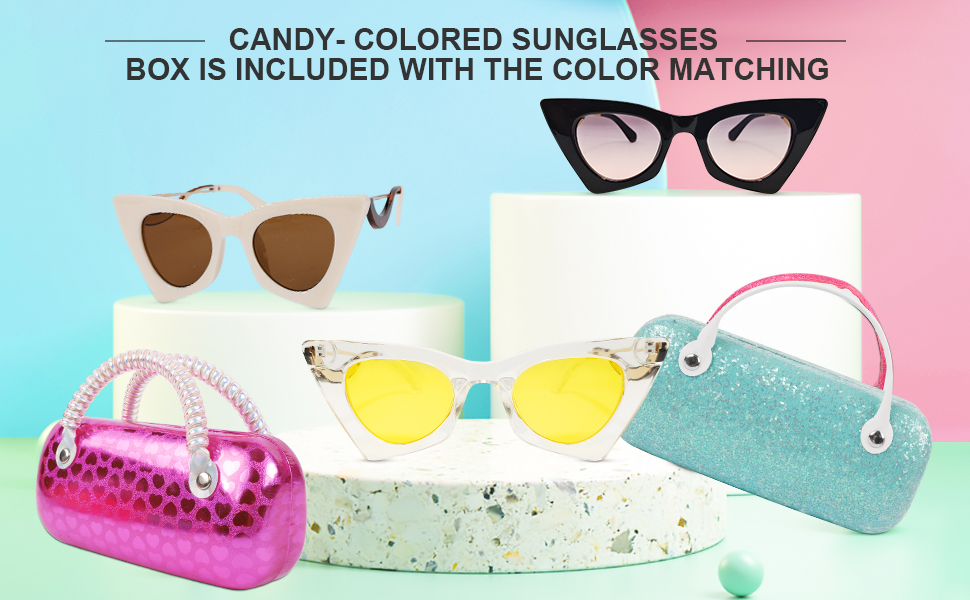 Portable sunglasses box with changeable colors, shining incomparably