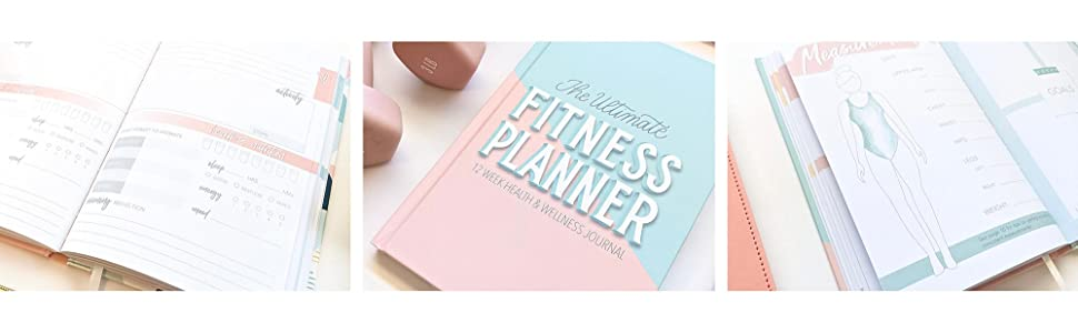 Fitness planner interior on outside and cover center image