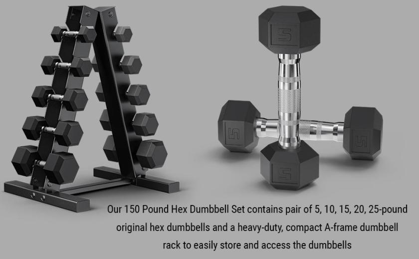 Dumbbells with A Frame Rack