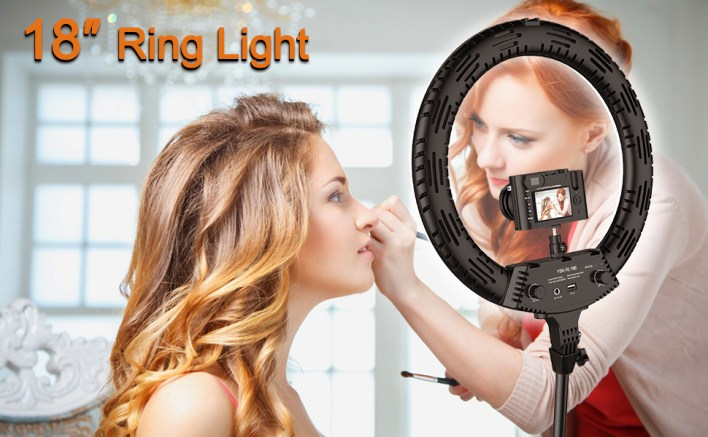 18 inch ring light with tripod stand new led selfie 3 Color Modes Dimmable Lighting