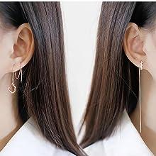 cuff earrings tassel