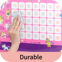 High quality and durable - easily wipe clean the potty chart.